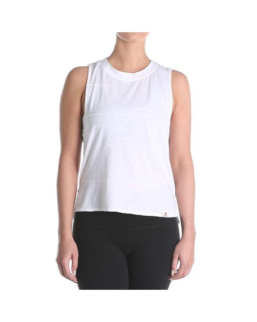 Vimmia - White Pacific Pintuck Muscle Tee - Lyst