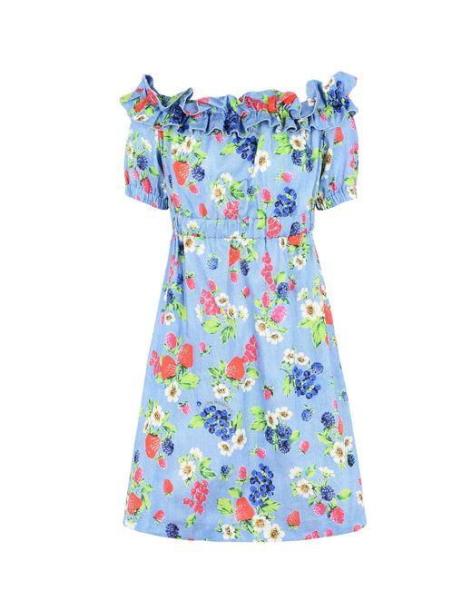 Love Moschino   Blue Short Dress   Lyst