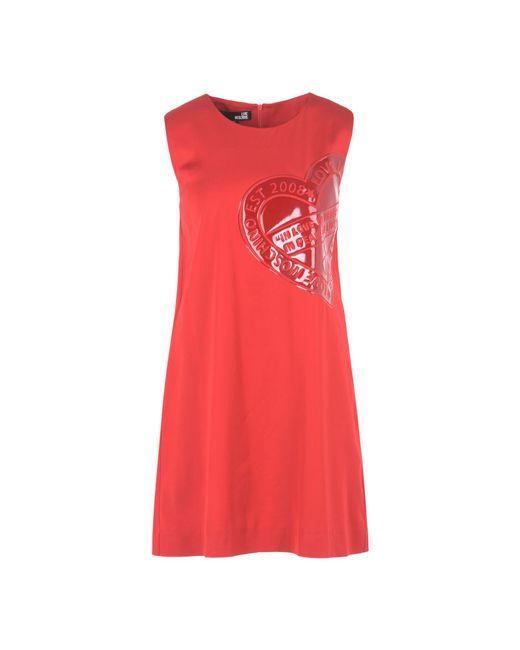 Love Moschino | Red Short Dress | Lyst