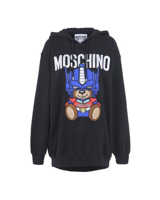 Moschino | Black Transformer Teddy Hoodie | Lyst