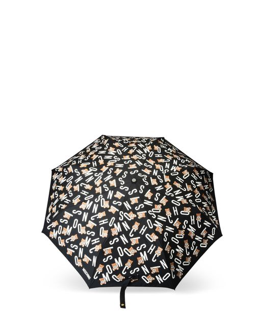 Moschino - Black Mini Umbrella - Lyst