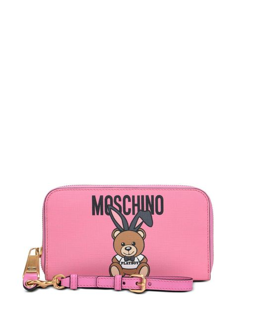 Moschino - Pink Wallet - Lyst