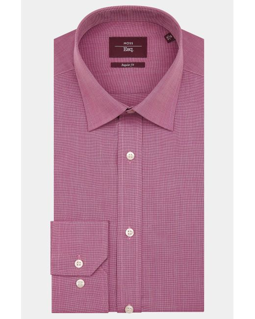 Moss Esq. - Regular Fit Purple Single Cuff Shirt for Men - Lyst