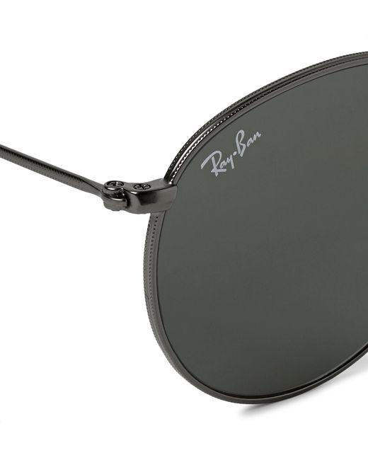 ce1299fe68 ... Ray-Ban - Multicolor Round-frame Gunmetal-tone Sunglasses for Men - Lyst  ...