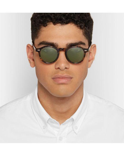 f5810bb6c9188 ... Moscot - Brown Miltzen Round-frame Tortoiseshell Acetate Sunglasses for  Men - Lyst ...