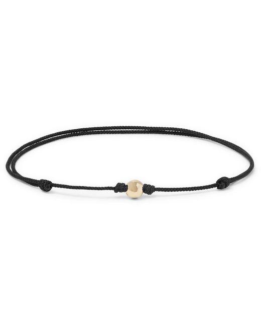 Luis Morais - Black Cord, 14-karat Gold And Diamond Bracelet for Men - Lyst