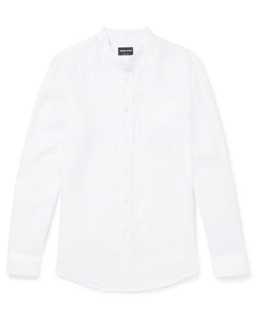 Cheap Sale New Arrival Buy Cheap Marketable Grandad-collar Slub Linen Shirt Tod's 100% Original Sale Online Limited Edition For Sale Cheap Sale Pay With Visa VUN4r