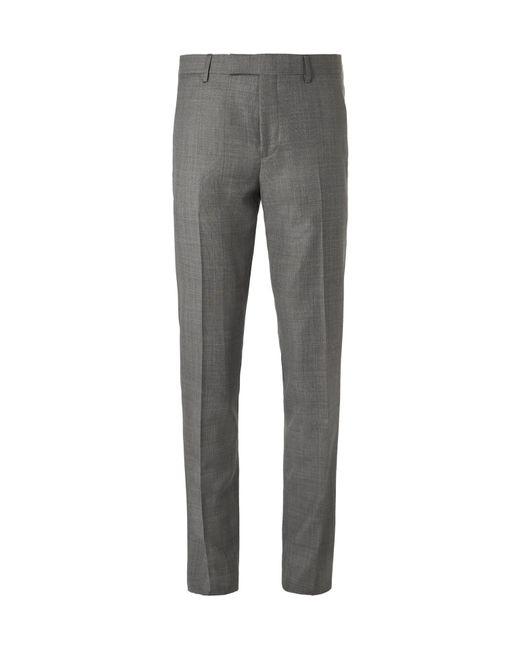 Paul Smith   Gray Grey Soho Slim-fit Prince Of Wales Checked Wool Suit Trousers for Men   Lyst