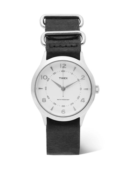 Timex - White Whitney Village Stainless Steel And Leather Watch for Men - Lyst