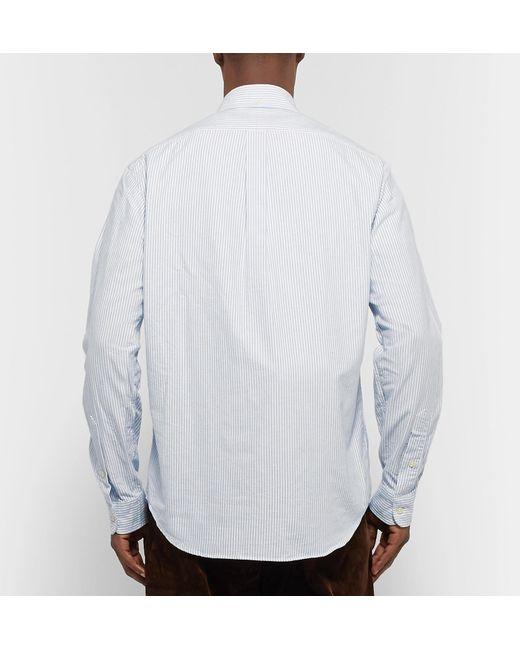 5de613c7e73 ... Polo Ralph Lauren - Blue Button-down Collar Embroidered Striped Cotton  Oxford Shirt for Men ...
