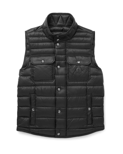 Moncler | Black Ever Light Quilted Shell Down Gilet for Men | Lyst