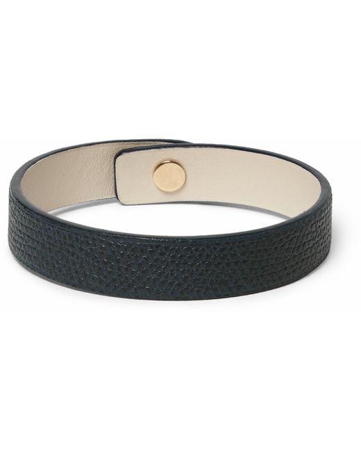 Valextra - Green Pebble-grain Leather Bracelet for Men - Lyst