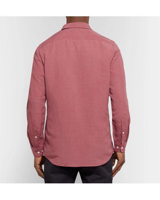 ... NN07 - Multicolor And Linen-blend Shirt for Men - Lyst ... 3c707dd96daff