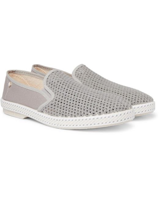 Rivieras - Gray Cotton-mesh And Canvas Espadrilles for Men - Lyst