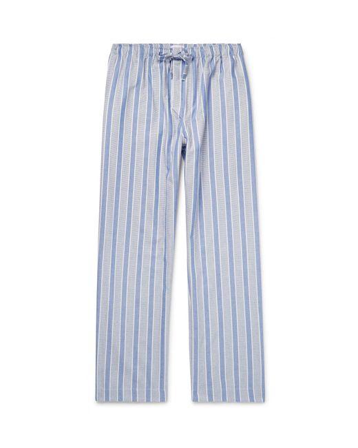 Derek Rose - Blue Artic Striped Cotton Pyjama Trousers for Men - Lyst