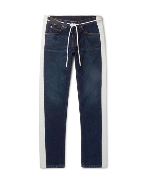 6788a42b1068 Lyst - Off-White c o Virgil Abloh Slim-fit Striped Denim Jeans in ...