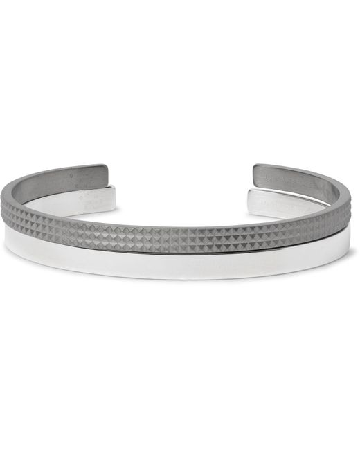 Le Gramme | Metallic Le 13 Guilloché And Le 15 Sterling Silver Cuff Set for Men | Lyst