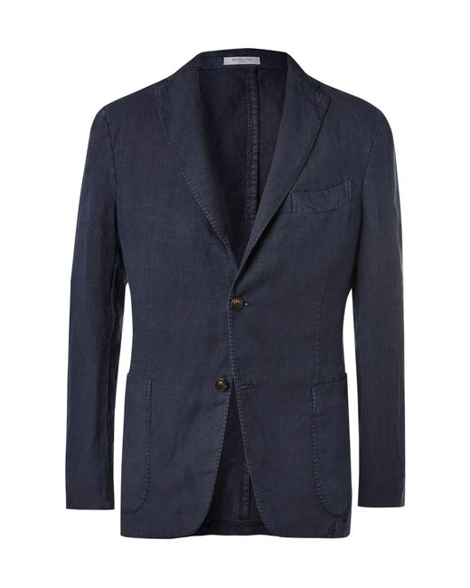 Boglioli - Blue Navy Unstructured Linen Suit Jacket for Men - Lyst