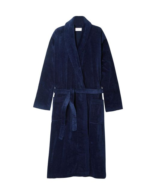Derek Rose | Blue Cotton-terry Robe for Men | Lyst