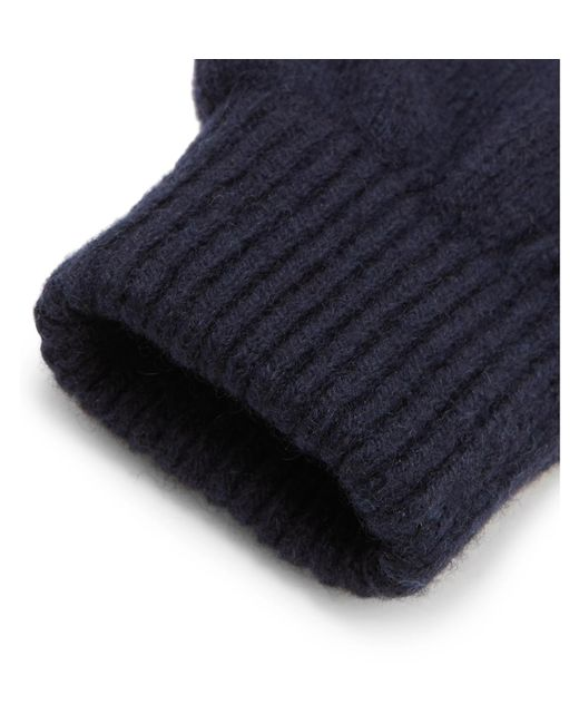 58d50558b96 ... Paul Smith - Blue Cashmere And Merino Wool-blend Gloves for Men - Lyst
