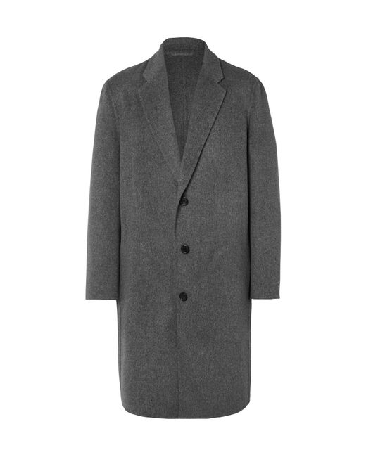 Acne | Gray Charles Wool And Cashmere-blend Overcoat for Men | Lyst