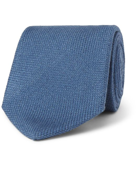 Drake's - Blue 8cm Wool, Silk And Cashmere-blend Tie for Men - Lyst