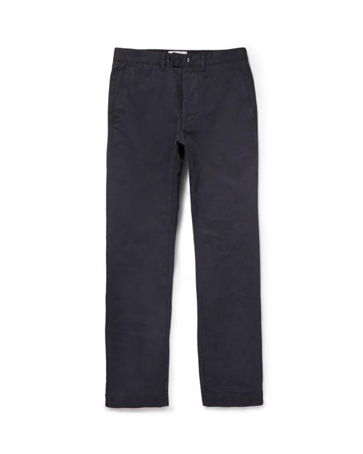 Officine Generale | Blue New Fisherman Cotton-twill Chinos for Men | Lyst