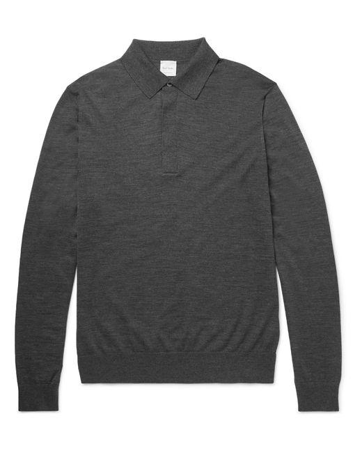 Paul Smith | Gray Merino Wool Polo Shirt for Men | Lyst