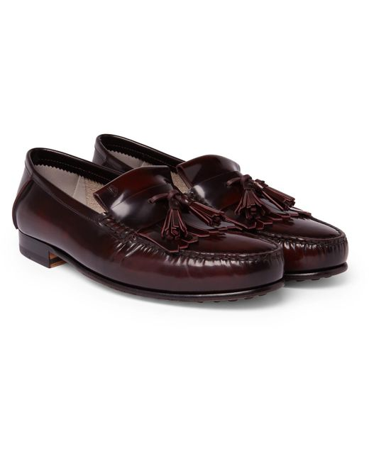 Tod's - Multicolor College Polished-leather Kiltie Loafers for Men - Lyst