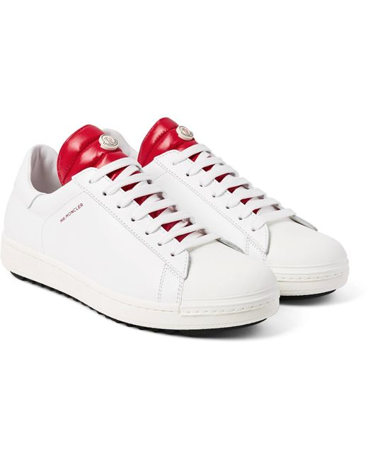 Moncler | White Joachim Quilted Shell And Leather Sneakers for Men | Lyst