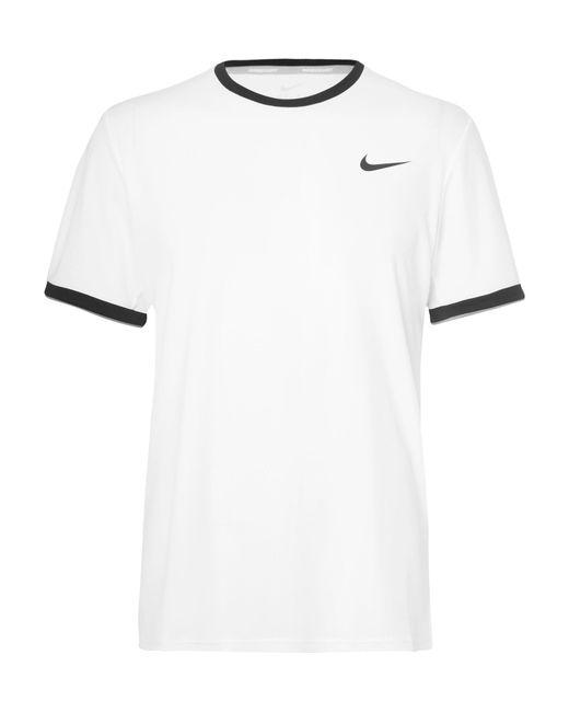 Nike   White Nikecourt Dry Dri-fit Mesh Tennis T-shirt for Men   Lyst