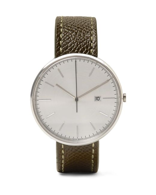 Uniform Wares - Metallic M40 Stainless Steel And Pebble-grain Leather Watch for Men - Lyst