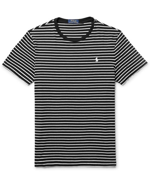 Polo Ralph Lauren | Black Striped Cotton-jersey T-shirt for Men | Lyst