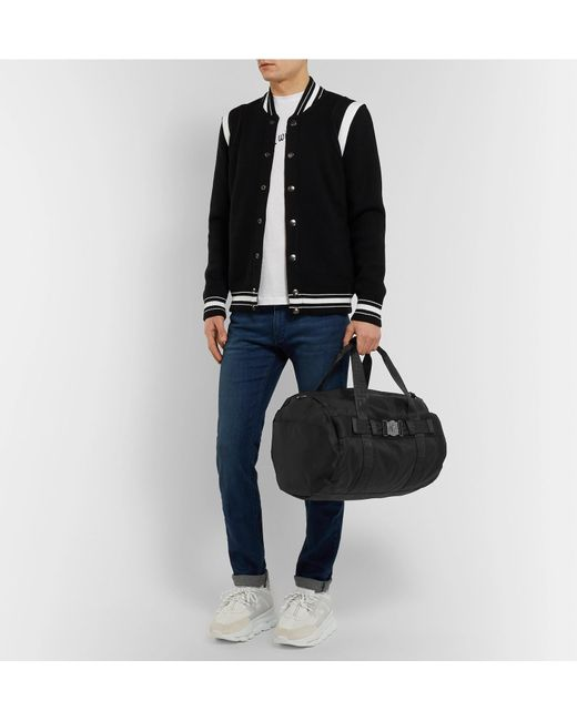 9c0051282744 ... Versace - Black Logo-embellished Nylon Duffle Bag for Men - Lyst ...