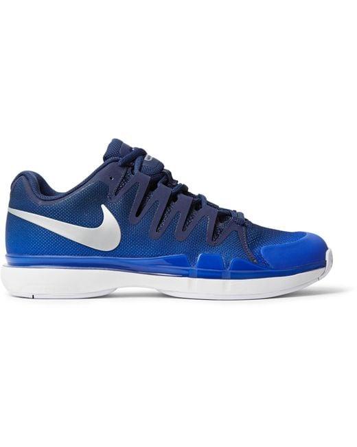 Nike | Blue Zoom Vapor 9.5 Tour Rubber-trimmed Mesh Tennis Sneakers for Men | Lyst
