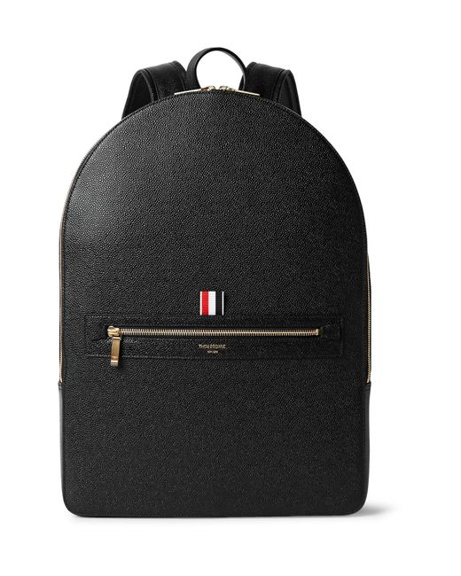Thom Browne | Black Pebble-grain Leather Backpack for Men | Lyst