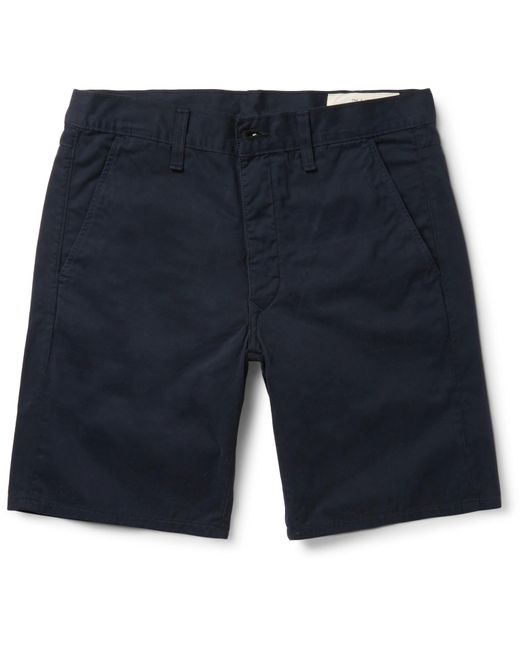 Rag & Bone - Blue Standard Issue Cotton-twill Shorts for Men - Lyst