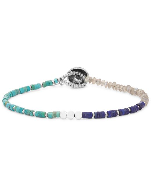 Peyote Bird - Multicolor Multi-stone And Sterling Silver Bracelet for Men - Lyst