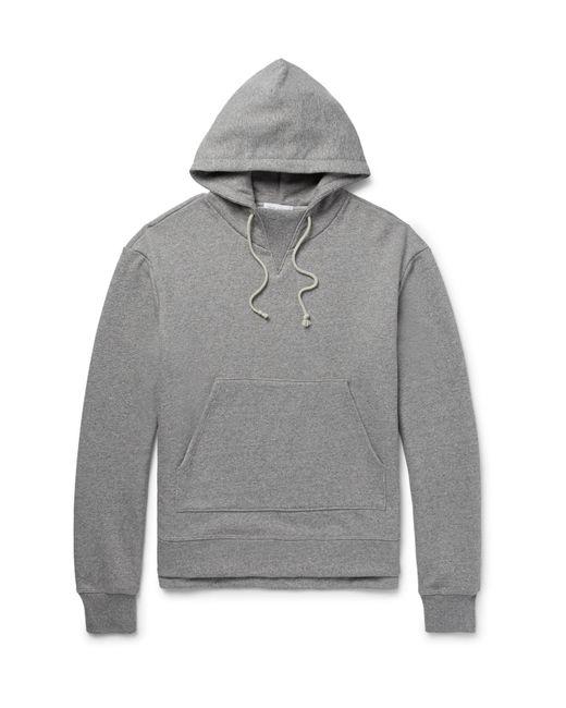 John Elliott - Gray Kake Mélange Loopback Cotton-blend Jersey Hoodie for Men - Lyst