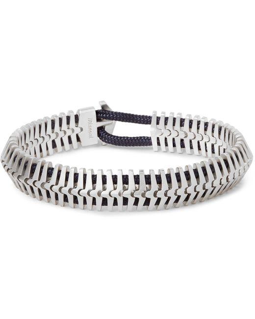 Miansai | Metallic Klink Sterling Silver Cord Bracelet for Men | Lyst