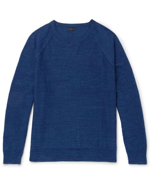 J.Crew - Blue Mélange Cotton-jersey Sweater for Men - Lyst