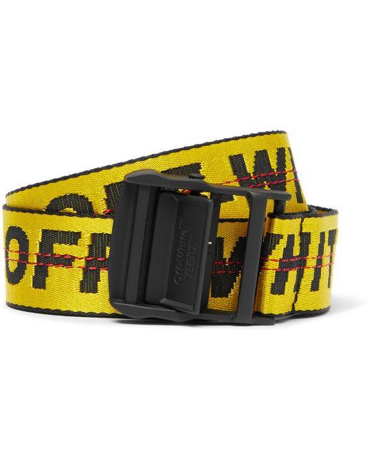Off-White c/o Virgil Abloh - 3.5cm Yellow Industrial Canvas Belt for Men - Lyst