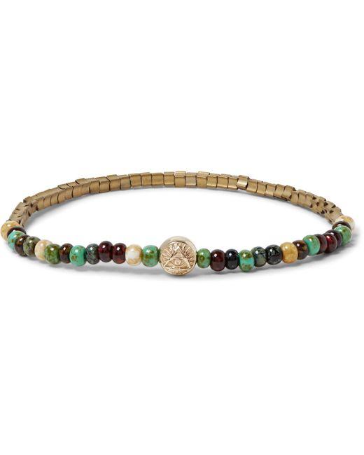 Luis Morais   Metallic Glass, Gold And Hematite Bead Bracelet for Men   Lyst