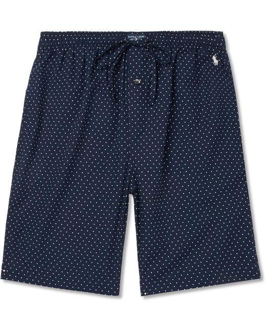 Polo Ralph Lauren   Blue Polka-dot Cotton Pyjama Shorts for Men   Lyst