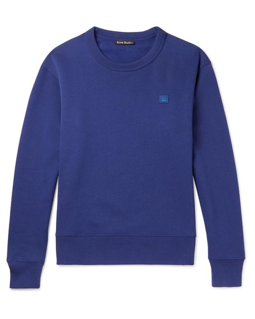 Acne | Blue Fairview Fleece-back Cotton-jersey Sweatshirt for Men | Lyst