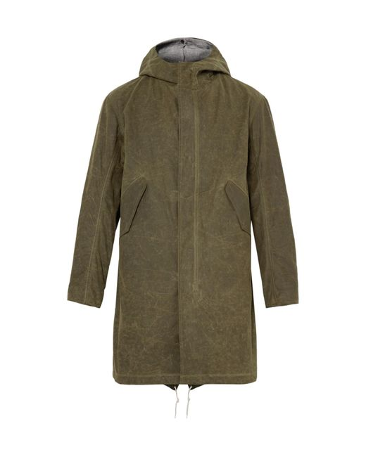 Freemans Sporting Club   Green Waxed-cotton Hooded Parka With Detachable Liner for Men   Lyst
