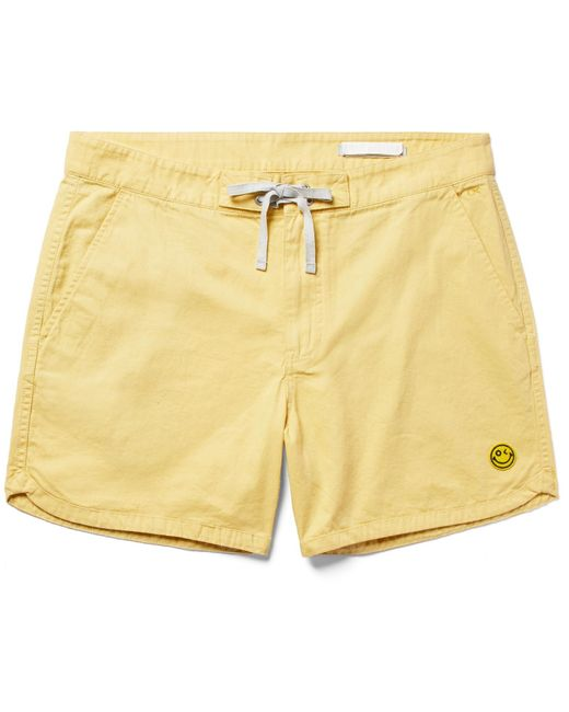 Outerknown | Yellow Happy Source Mid-length Organic Cotton And Hemp-blend Swim Shorts for Men | Lyst