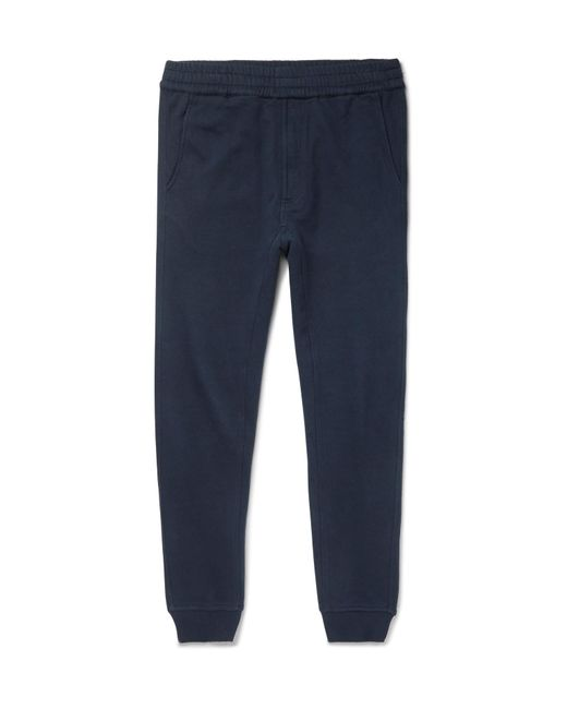 Folk   Blue Goss Brothers Slim-fit Tapered Printed Loopback Cotton-jersey Sweatpants for Men   Lyst