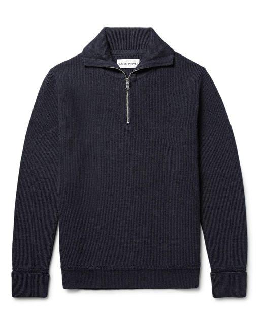 SALLE PRIVÉE   Blue Rikard Virgin Wool Half-zip Sweater for Men   Lyst