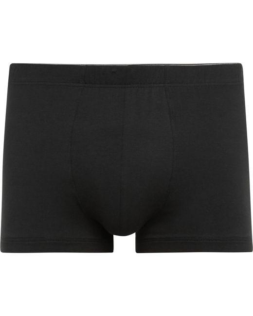 Hanro | Black Superior Stretch-cotton Boxer Briefs for Men | Lyst
